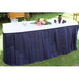 Gonne plissè per tavolo buffet TNT blu 4 mt