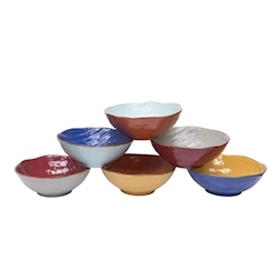 Insalatiera Mediterraneo in ceramica colorata cm 27