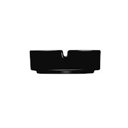 Posacenere impilabile Arcoroc in vetro nero cm 10,7