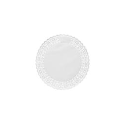 Pizzi tondi in carta bianca cm 24