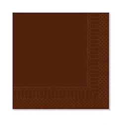 Tovagliolo in cellulosa 2 veli cioccolato cm 33x33