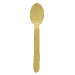 Cucchiaio monouso in legno biodegradabile cm 15,7