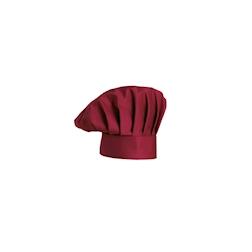 Cappello cuoco classico Egochef cotone bordeaux