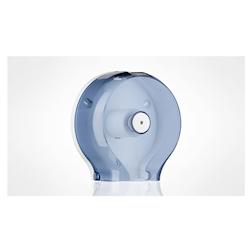 Porta rotoli di carta igienica in plastica trasparente con posacenere 22 cm