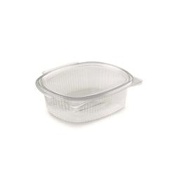 Contenitori ovali con coperchio monouso in pet trasparente lt 1,5