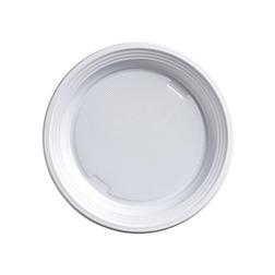 Piatto frutta bianco in plastica cm 16,9