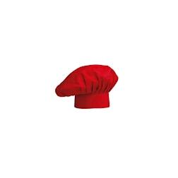 Cappello cuoco classico Egochef poliestere cotone rosso