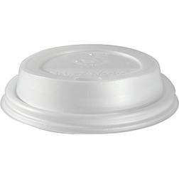 Coperchio monouso in polistirene con fessura bianco cm 6,3