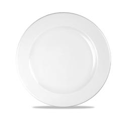 Piatto piano Linea Profile Churchill in ceramica vetrificata bianco cm 30,5