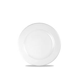 Piatto piano Linea Profile Churchill in ceramica vetrificata bianco cm 17