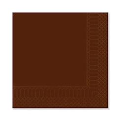 Tovagliolo 2 veli in cellulosa marrone cioccolato cm 25x25