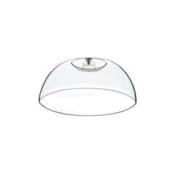 Cupola tonda in pvc con pomolo in acciaio cm 25