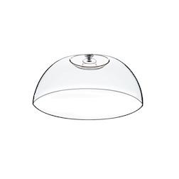 Cupola tonda in pvc con pomolo in acciaio cm 32