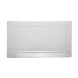 Vassoio rettangolare in melamina bianco cm 36,5 x 65