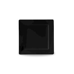 Vassoio quadrato in melamina nero cm 33 x 33