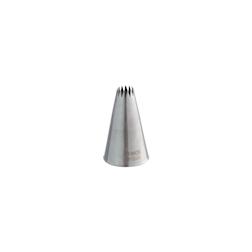 Bocchetta foro stella francese in acciaio inox mm 18