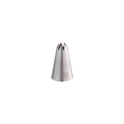 Bocchetta foro fiore in acciaio inox mm 6