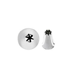 Bocchetta foro fiore in acciaio inox mm 8