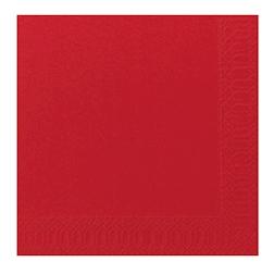 Tovagliolo Duni in cellulosa due veli cm 40 x 40 rosso
