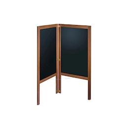 Lavagna cavalletto a libro bifacciale in mdf e cornice in legno di noce cm 60x125