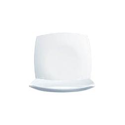 Piatto piano quadrato Linea Delice Arcoroc in vetro bianco 27 cm
