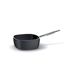 Casseruola quadra un manico Ballarini in alluminio antiaderente nero cm 28