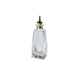 Bottiglia per angostura Quadra con tappo in vetro cl 20