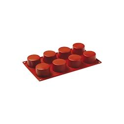 Flexipad cilindri 8 impronte in silicone marrone cm 30x17,5