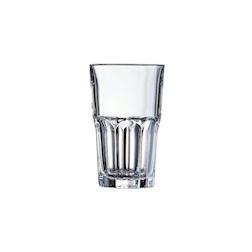 Bicchiere granity alto impilabile in vetro trasparente cl 35