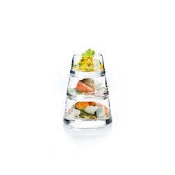 Bicchieri Piramide Vertigo Durobor in vetro 3 pezzi