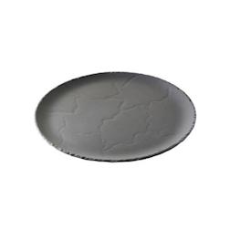 "Vassoio linea ""Basalt"" in porcellana ''ardesia'' Revol, tondo cm 32"