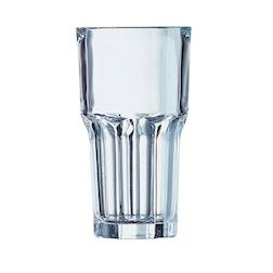 Bicchiere granity alto impilabile in vetro trasparente cl 46