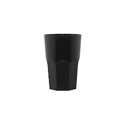 Bicchiere policarbonato Granity nero 40 cl