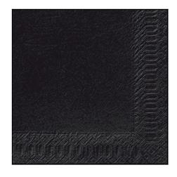 Tovagliolo Duni in cellulosa due veli cm 40 x 40 nero