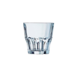 Bicchiere granity basso impilabile in vetro trasparente cl 27,5