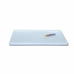 Tagliere professionale MC polietilene 53x32,5x1,5cm superficie goffrata bianco HACCP
