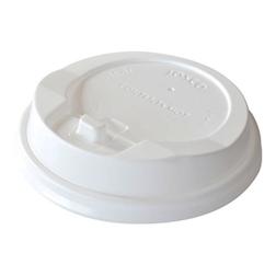 Coperchio monouso con fessura per bicchiere Duni polistirene 9 cm bianco
