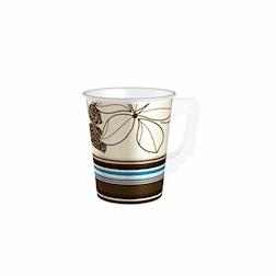 Bicchiere cappuccio monouso Flower Duni in cartone cl 20 marrone decoro fiori