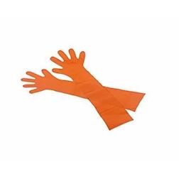 Guanti monouso Walking Extra Lunghi in polietilene arancione