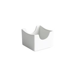 Porta bustine Ming in porcellana bianca cm 7x7x5,5