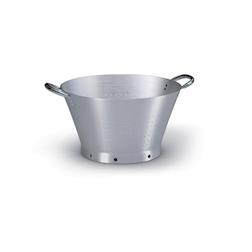 Colapasta conico 2 manici Ballarini in alluminio satinato cm 36