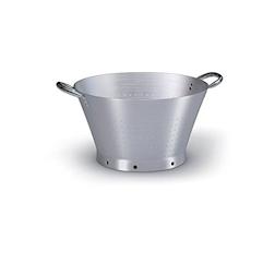 Colapasta conico 2 manici Ballarini in alluminio satinato cm 40