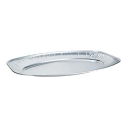 Vassoio ovale da servizio monouso Duni alluminio 44 x 29 cm