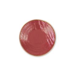Piatto piano Mediterrano in ceramica rosso ciliegia cm 20
