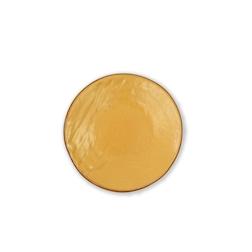 Piatto piano Mediterraneo in ceramica gialla cm 20