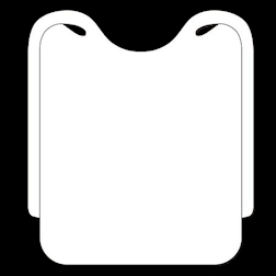 Bavaglio ristorante in airspun bianco cm 37x46