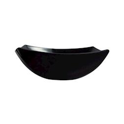 Piatto fondo quadrato Linea Delice Arcoroc in vetro nero 19 cm