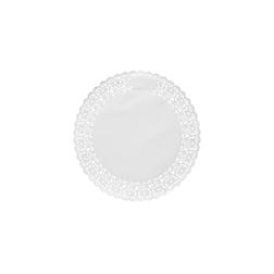 Pizzi tondi in carta bianca cm 16