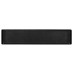 Vassoio Linea Buffet Churchill rettangolare in melamina nero cm 46 x 10