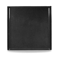 Vassoio Linea Buffet Churchill rettangolare in melamina nero cm 30,3 x 30,3
